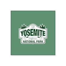 """Yosemite Green Sign Square Sticker 3"""" x 3"""""""