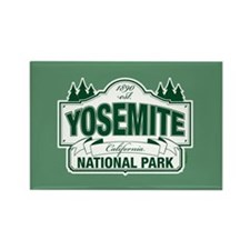 Yosemite Green Sign Rectangle Magnet