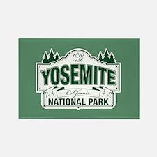 Yosemite Green Sign Rectangle Magnet