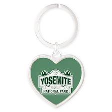 Yosemite Green Sign Heart Keychain