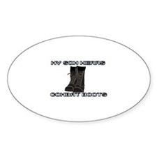 My Son Wears Combat Boots... Oval Decal