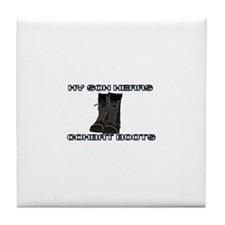 My Son Wears Combat Boots... Tile Coaster