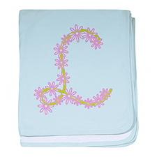 Monogram L baby blanket