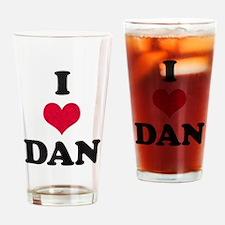 I Love Dan Drinking Glass