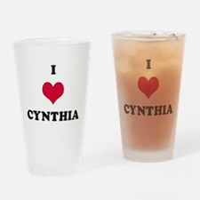 I Love Cynthia Drinking Glass