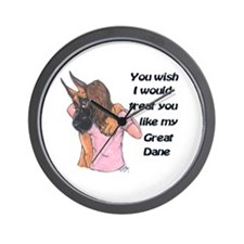 C Fawn Wish Wall Clock