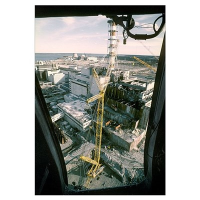 Chernobyl nuclear power station Canvas Art