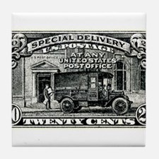 1925 United States Special Delivery Stamp Tile Coa