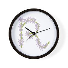Monogram R Wall Clock