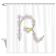 Monogram R Shower Curtain