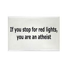 Red Lights Atheist Rectangle Magnet