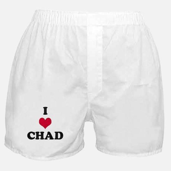 I Love Chad Boxer Shorts