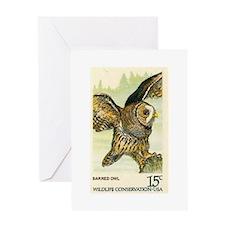 1978 United States Barred Owl Postage Stamp Greeti