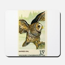 1978 United States Barred Owl Postage Stamp Mousep