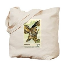 1978 United States Barred Owl Postage Stamp Tote B