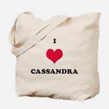 I Love Cassandra Tote Bag