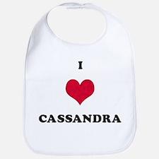 I Love Cassandra Bib