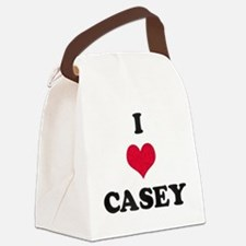 I Love Casey Canvas Lunch Bag