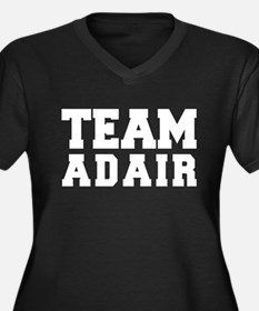 TEAM ADAIR Women's Plus Size V-Neck Dark T-Shirt
