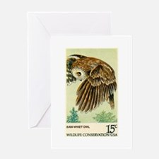 1978 United States Saw whet Owl Postage Stamp Gree