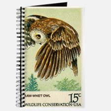 1978 United States Saw whet Owl Postage Stamp Jour