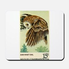 1978 United States Saw whet Owl Postage Stamp Mous