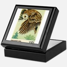 1978 United States Saw whet Owl Postage Stamp Keep