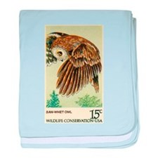 1978 United States Saw whet Owl Postage Stamp baby