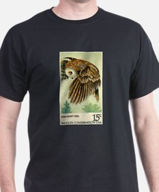 1978 United States Saw whet Owl Postage Stamp T-Shirt