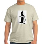 Penguin Poser Art Ash Grey T-Shirt
