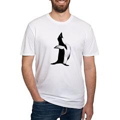 Penguin Poser Art Fitted T-Shirt