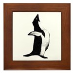 Penguin Poser Art Framed Tile