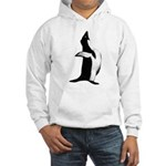 Penguin Poser Art Hooded Sweatshirt