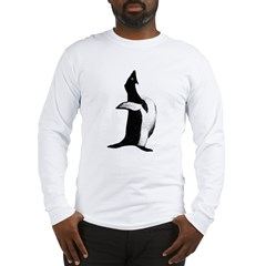 Penguin Poser Art Long Sleeve T-Shirt
