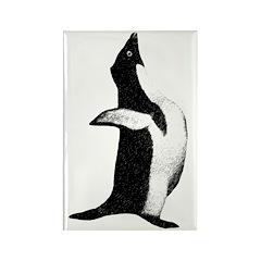 Penguin Poser Art Rectangle Magnet