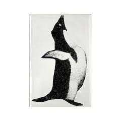 Penguin Poser Art Rectangle Magnet (10 pack)