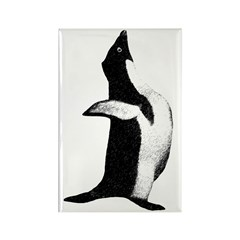 Penguin Poser Art Rectangle Magnet (10 pack)