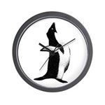 Penguin Poser Art Wall Clock