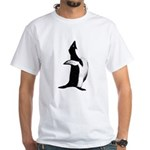 Penguin Poser Art White T-Shirt