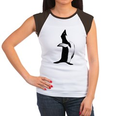Penguin Poser Art Women's Cap Sleeve T-Shirt