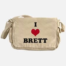 I Love Brett Messenger Bag