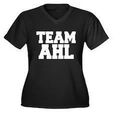 TEAM AHL Women's Plus Size V-Neck Dark T-Shirt