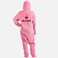 I Love Brandy Footed Pajamas