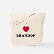 I Love Brandon Tote Bag