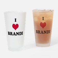 I Love Brandi Drinking Glass