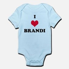 I Love Brandi Infant Bodysuit