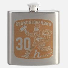 1945 Czechoslovakia Newspaper Newsboy Stamp Flask