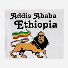 Addis Ababa, Ethiopia Throw Blanket