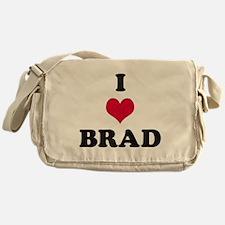 I Love Brad Messenger Bag