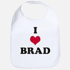 I Love Brad Bib